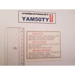 Sticker crankset Yamaha 50 TY
